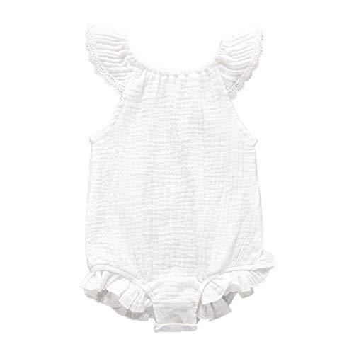 aus Baumwolle mit fliegenden Ärmeln Gr. 80 cm(6-12 Monate), weiß ()