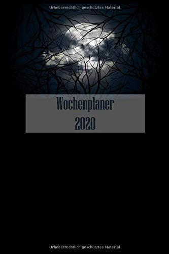 Wochenplaner 2020: A5   130 Seiten   Wochenkalender   Semesterkalender   Studentenkalender vom Januar bis Dezember 2020   Timer, Terminplaner und Kalender   Mond - Cover