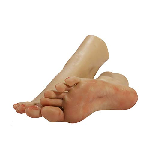 YZZ Neu 1 Paar-Silikon-Life Size Female Mannequin Fuß mit Knochen-Display Schmuck-Sandale Schuhsocken-Anzeige Art Skizze mit Nagel