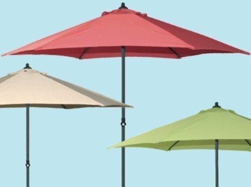 Schirme Rund in Aluminium Farbe grün–Ø cm. 270
