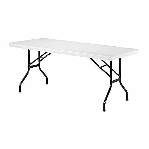 Jemini 1220mm Lightweight Portable High Density Plastic Rectangular Folding Table,
