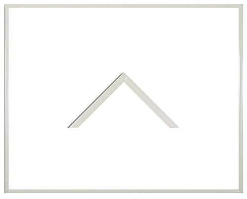 Iowa Kunststoff-Bilderrahmen 22x95 cm Posterrahmen 95x22 cm Farbwahl jetzt: Weiß mit 1 mm Acryglas klar