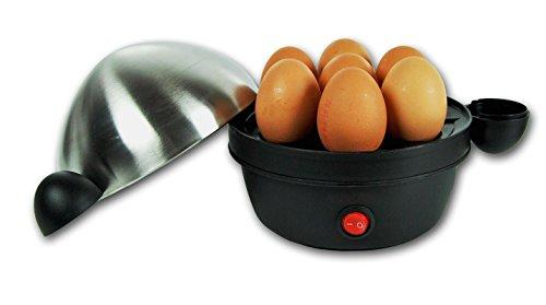 360W Edelstahl Eierkocher mit Signalton Messbecher für 7 Eier Kocher