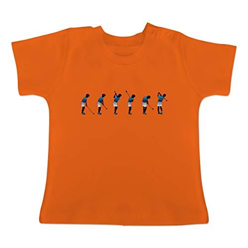 Sport Baby - Golf Abschlag - 1-3 Monate - Orange - BZ02 - Baby T-Shirt Kurzarm -