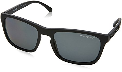 Arnette burnside, occhiali da sole unisex adulto, negro (matte black), 56