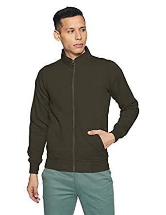 Qube By Fort Collins Men's Sweatshirt (929210 SMU_Olive_XXL)