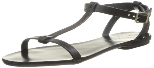 PIECES Tabitha Leather Sandal Damen Sandalen Schwarz - Noir (Black)