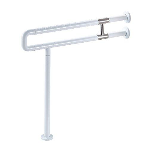 Honwan-Bad TCFLYPJFS Badezimmerhandläufe U-förmiger Toilettengriff Rutschfester Sicherheitsbügel Starker Stützstab Behinderter Alter Mann 70cm (Color : White) -