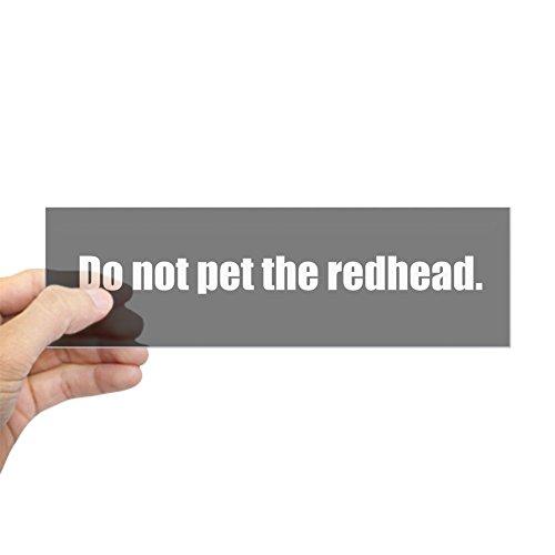 cafepress-do-not-pet-the-redhead-bumpersticker-10x3-rectangle-bumper-sticker-car-decal