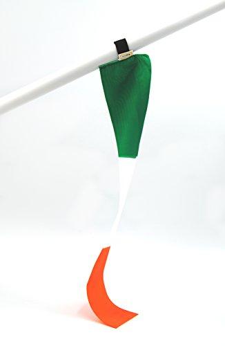 miniflag 5er-Set Irland Fan-Artikel in National-Farben | Kleine Mini-Fahne | Fan und Party-Fähnchen u.a. für Fußball Handball Beach-Volleyball Tennis Ski WM EM Olympia Sport-Events |