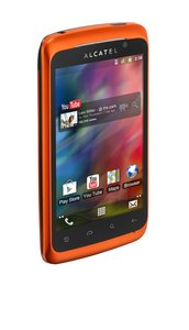 Alcatel One Touch Play 991D Smartphone (10,2 cm (4 Zoll) Touchscreen, 5 Megapixel Kamera, Dual-SIM, Android 2.3) orange