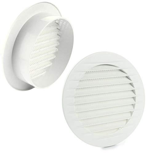 MKK–17969–ventilazione griglia abluft Griglia esterna Griglia Protezione insetti Bianco Grigio Marrone 60708090100mm, Bianco