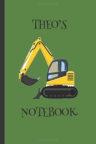 Theo's  Notebook: Boys Gifts : Big Yellow Digger Journal