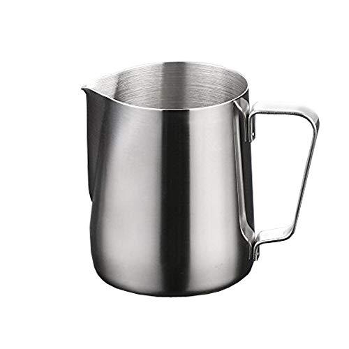lautechco Edelstahl Kaffee Krug Milch Tasse Girlande Tasse Fancy Kaffee Zylinder Cappuccino Cafe 150ml silberfarben -
