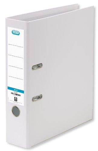 ELBA 100202160 Kunststoff-Ordner smart Pro+ 10er Pack 8 cm breit DIN A4 weiß mit Einsteckrückenschild