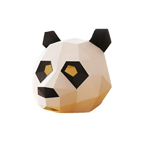 Tandou Super 3D Panda Maske Halloween Spielzeug Festival Cosplay Kostüm Party Maske Foto Requisite B