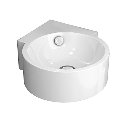 Art&Bath Dasha lavabo porcelana, suspendido, 31x43x12.5