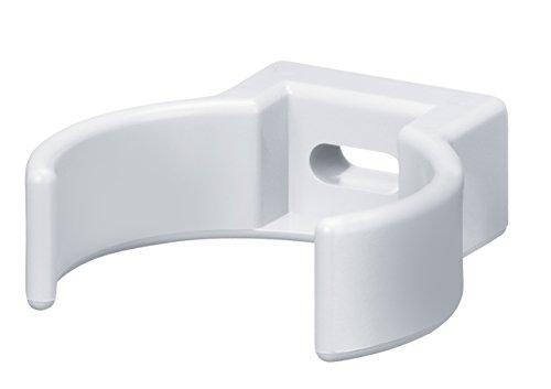 INEFA Rohrschelle DN 50, Weiß Kunststoff, Regenrinne, Dachrinne