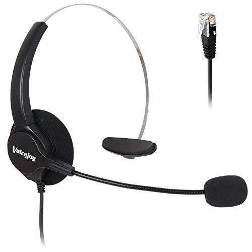 Monaural Ear-Headset mit Mikrofon für Cisco IP Phone 7841, 7942G, 8841,7940, 7941G, 7945G, 7960, 7961, 7961G, 7962G, 7965G, 7970, 7971, 7971G, 7975, 7975G Cisco Monaural Headset
