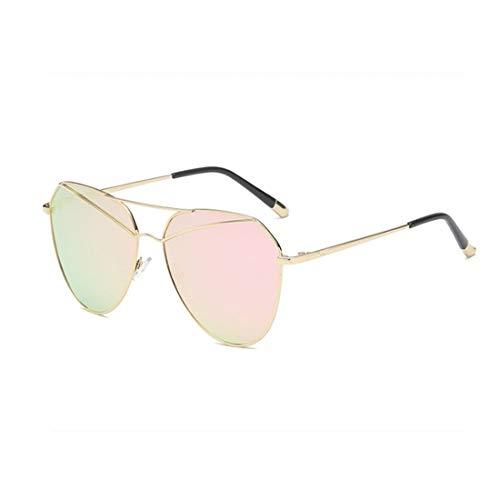 GSAYDNEE Geistige doppelte Sonnenbrille für Männer Frauen Radfahren Laufen Fahren Angeln Glas (Color : Pink)