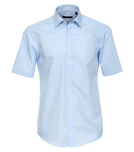 Venti - Slim Fit - Bügelfreies Herren Kurzarm Hemd in diversen Farben (001620) Blau (102)