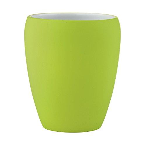 Zahnputzbecher Zone CONFETTI Soft lime- grün Porzellan