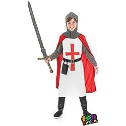 Boys Toys - Disfraz de caballero cruzado para niño, talla M (6-8 años) (2988-300M)