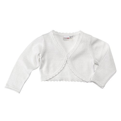 BORNINO Strickbolero Baby-Jacke, Größe 62/68, weiß