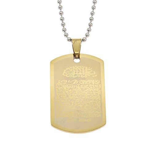 Kesheng Islam Halskette mit Anhänger Zahnrad Stern Rund Schmuck für Damen Herren