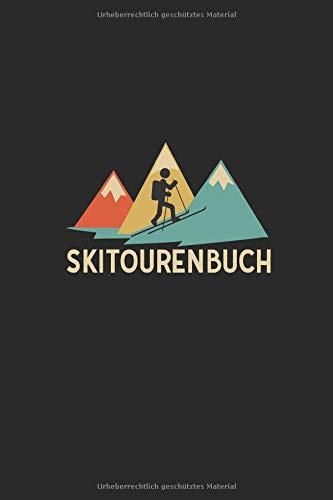 Skitourenbuch: Logbuch für Skitouren, Wintergipfel, Firn- und Pulverschnee Touren Tracks - Notizbuch für Schibergsteiger im Vintage Stil por Adventure Notebooks