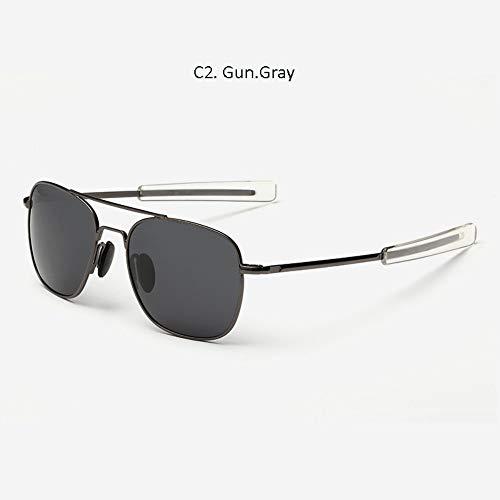 Sonnenbrille Amerikanische Armee Militär Grau Polarisierte Sonnenbrille Aviation Tauchen Sonnenbrille Aus Magnesiumlegierung Klassische