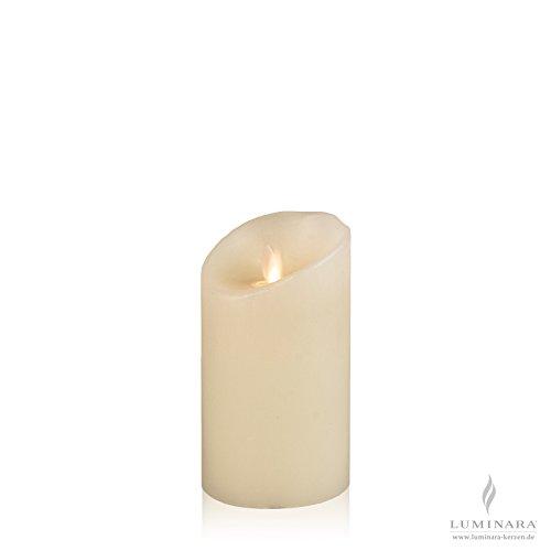 Luminara–Vela de cera con led (8x 13cm Marfil lisa
