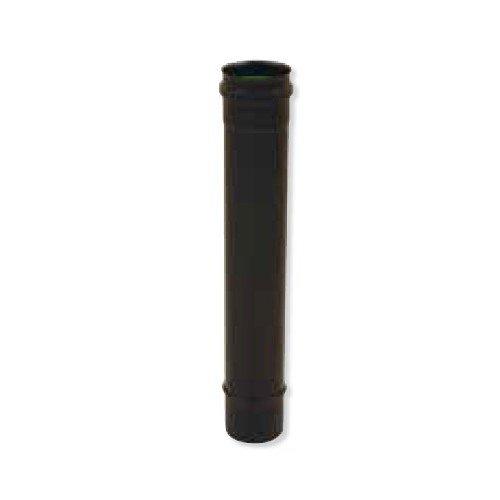 Elément 1000mm noir mat avec joint silicone diamètre 80 Gamme APOLLO pellets concentrique Réf 891008