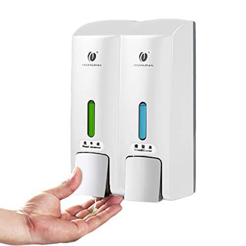 Zerama Manueller Doppel Heads nToilet Dusche-Raum-Wandhalterung Pumpe Lotion Sanitizer Flüssigseife Container Spender Shampoo Box CHUANGDIAN -