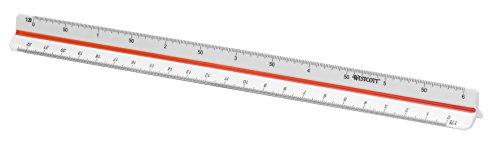 Westcott E-10161 00 Righello scuola professionale, plastica, 30 cm, bianco
