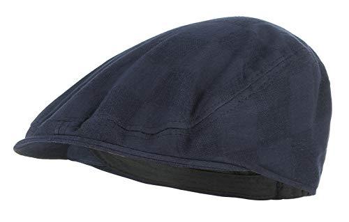 DEMU Herren Schirmmütze Sommer Kappe Hut Schiebermütze Flatcap Gatsby Sommerhut ()