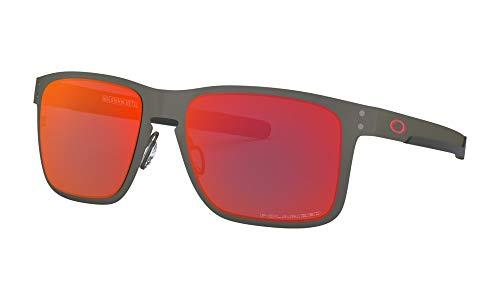 Oakley Herren OO4123 55 412305 Sonnenbrille, Grau
