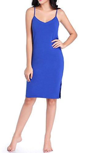 Chamllymers Damen Nachthemd Blau