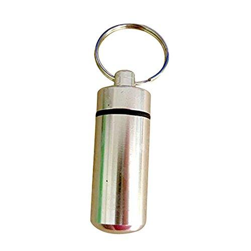 Metall Aus Pille-kapsel (Schluesselring - TOOGOO(R) 3 Stueck Kapseln aus Aluminium Pillenbox Uhrtasche Cache Behaelter Schluesselring Zufaellig silber)