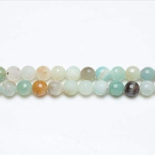 Filo 44+ multicolore amazzonite 8mm tondo sfaccettato perline gs8123-2 (charming beads)