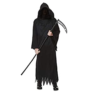 Karnival Costumes- Halloween Grim Reaper Disfraz, Color negro, medium (84189)