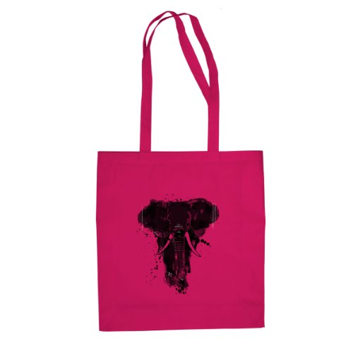 Elephant - Stofftasche / Beutel Pink