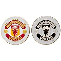 MANCHESTER UNITED DOUBLE SIDED GOLF BALL MARKER, OFFICIAL MERCHANDISE FROM PREMIER LICENSING.