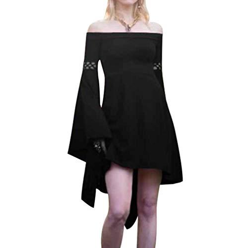 83a77340db6d Donne costume medievale, retrò maniche lunghe costume per halloween festa  donna vittoriano rinascimentale mini abito
