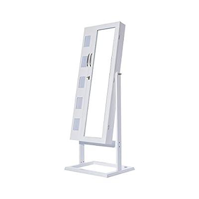 Topgoods 150 x 56 x 44 cm Doppeltür Design Schmuckschrank Spiegelschrank Standspiegel Spiegel