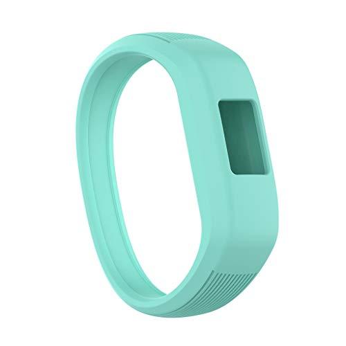 Hunpta@ Armband, für Garmin Vivofit 3 Vivofit JR / JR2 Ersatz Sport Silikon Armband Kleiner Silikonarmband für Kinder Groß/klein (Hellblau, klein)