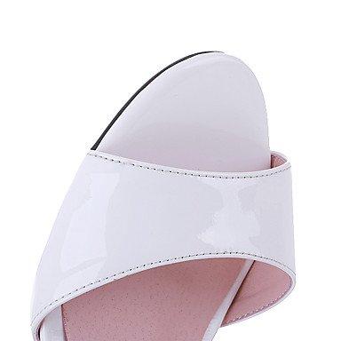 LvYuan Damen-Sandalen-Hochzeit Kleid Party & Festivität-Leder-Blockabsatz-Andere-Weiß White
