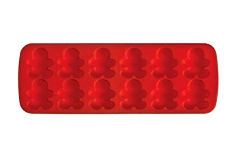 Premier Housewares 12 Gingerbread Man Cake Mould Tray - Red