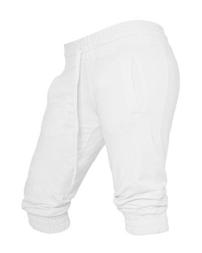 Urban Classics Damen Ladies French Terry Capri Hose, Weiß (White 00220), W(Herstellergröße: XL) French Terry Capri