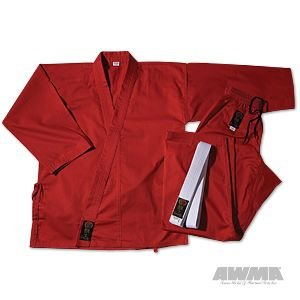 ProForce Gladiator 7,5 oz Medium Gewicht Uniform – Rot (Elastic Kordelzug) Größe 8 (Flag Thermal-shirt)